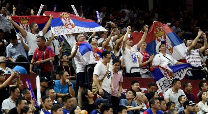 مشجعو المنتخب الصربي