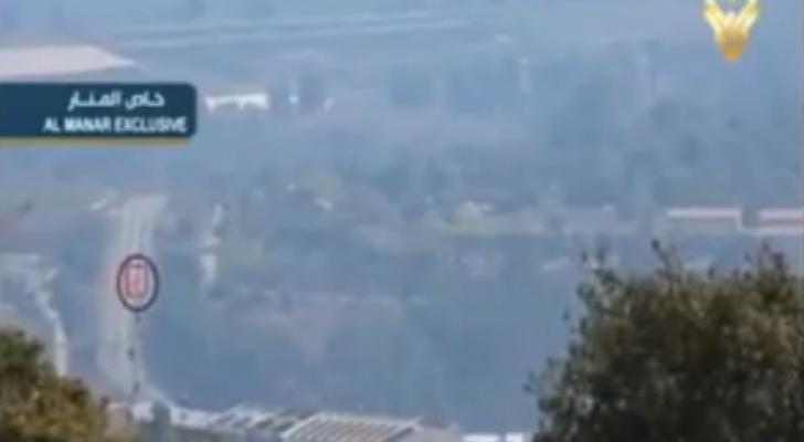 """""""حزب الله"""" يبث مشاهد لعملية استهداف مدرعة الاحتلال"""