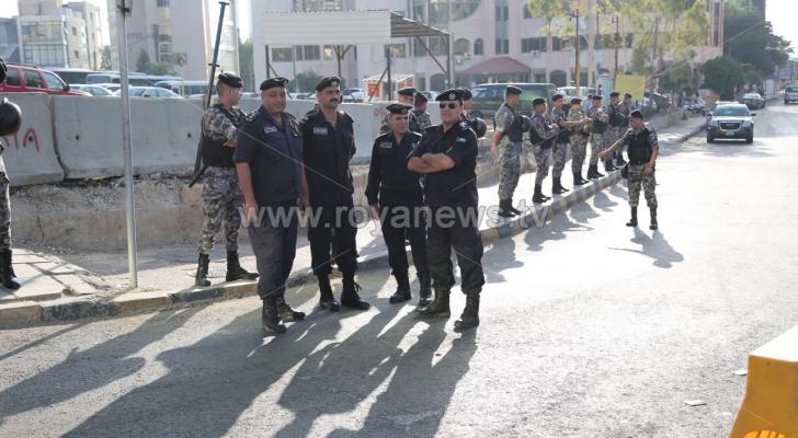 انتشار امني في عمان بسبب اعتصام المعلمين