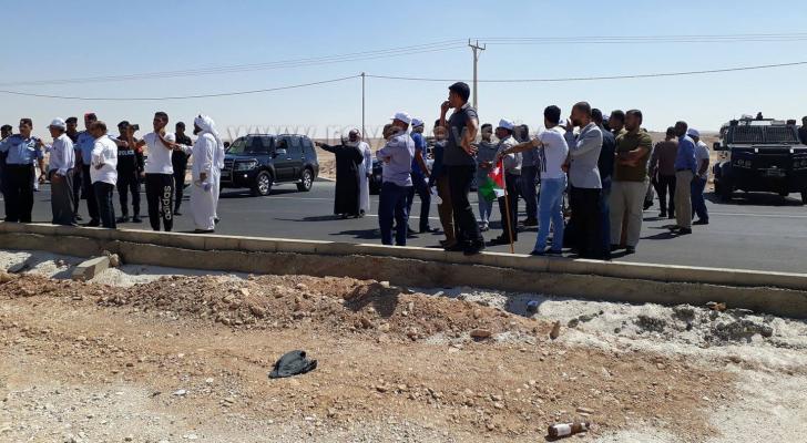 الصورة من الطريق الصحراوي