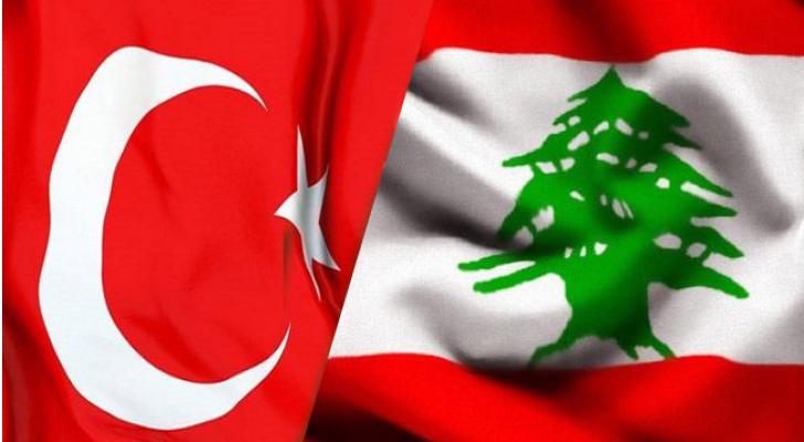 علم تركيا ولبنان