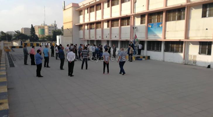 اضراب معلمات في مدرسة بمدينة اربد