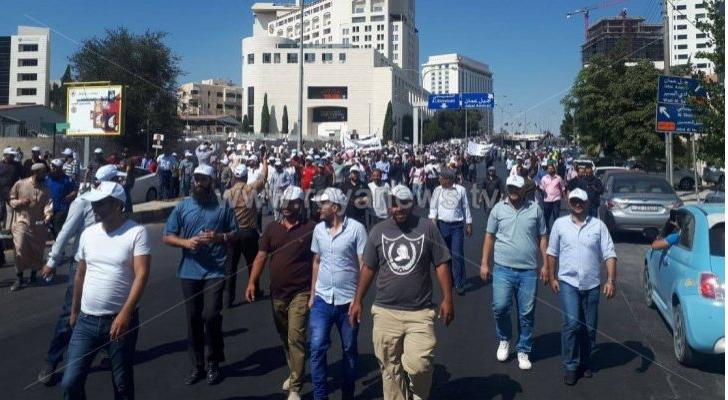 الصورة من اعتصام المعلمين