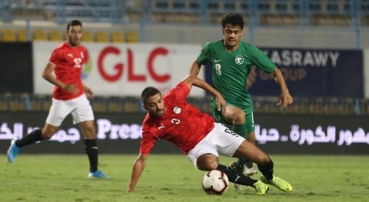 من مباراة اليمن والسعودية
