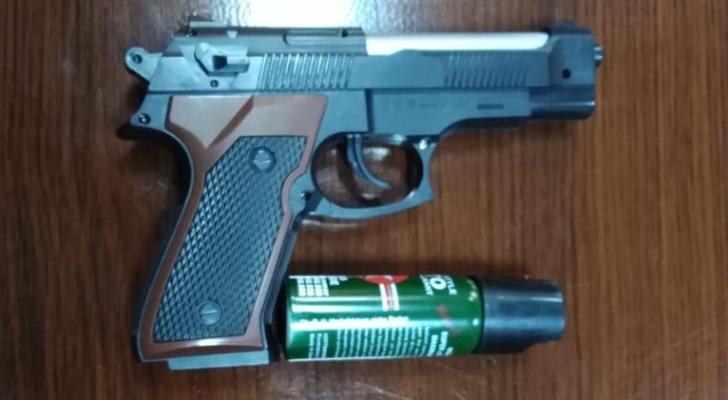 السلاح الذي تم ضبطه