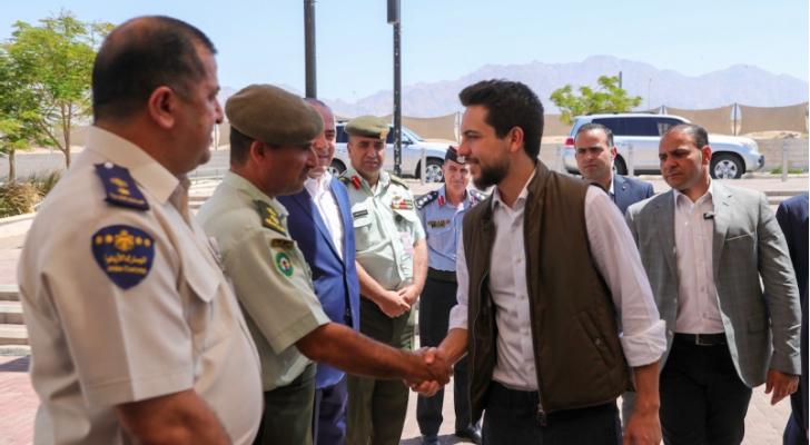 ولي العهد يتفقد جاهزية مطار الملك الحسين الدولي بالعقبة