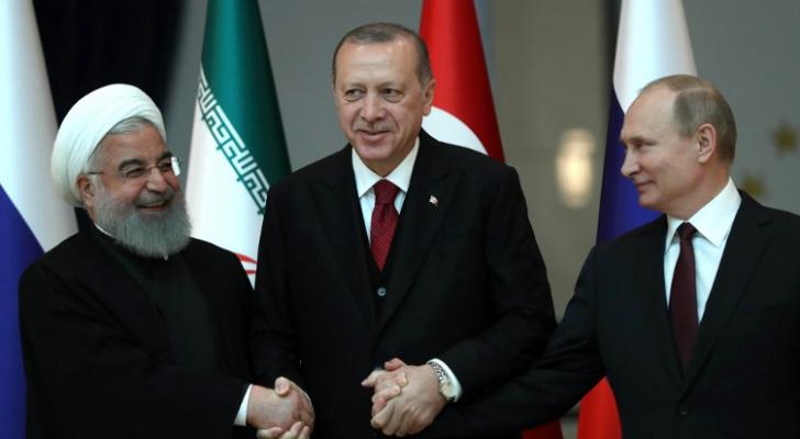 اردوغان وروحاني وبوتين