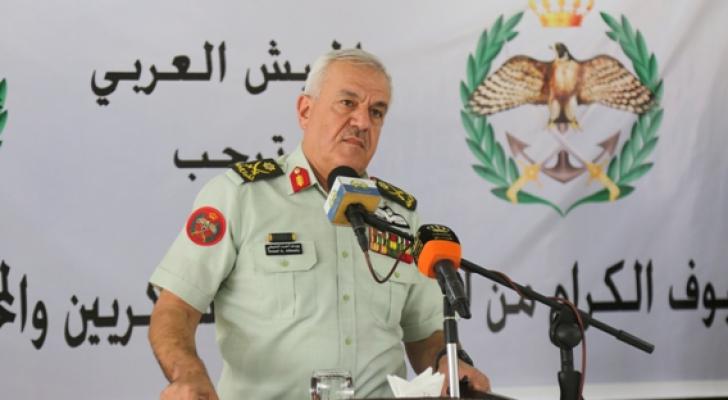 رئيس هيئة الأركان المشتركة اللواء الركن يوسف أحمد الحنيطي