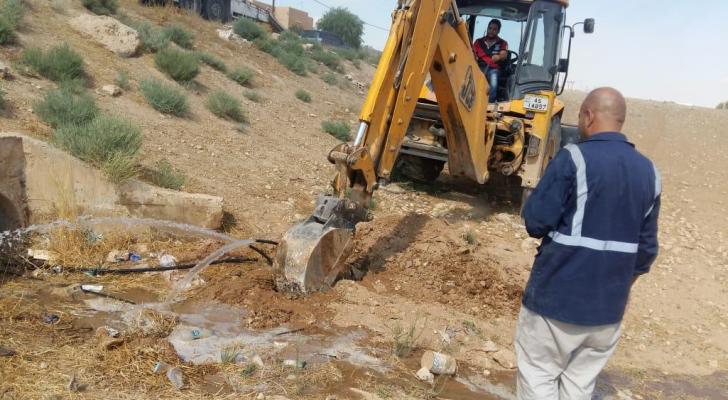 خلال الحملة الأمنية على اعتداءات المياه