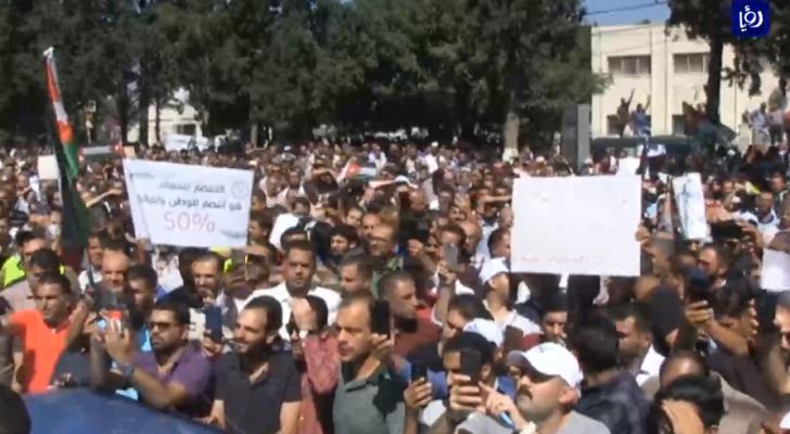 من المسيرة في مدينة اربد