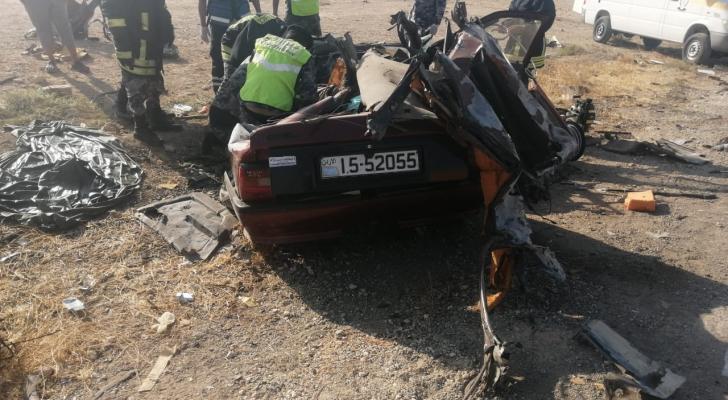 من الحادث على الطريق الصحراوي