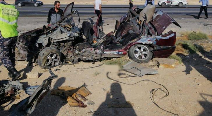 حادث الصحراوي الذي اودى بحياة 4 اشخاص