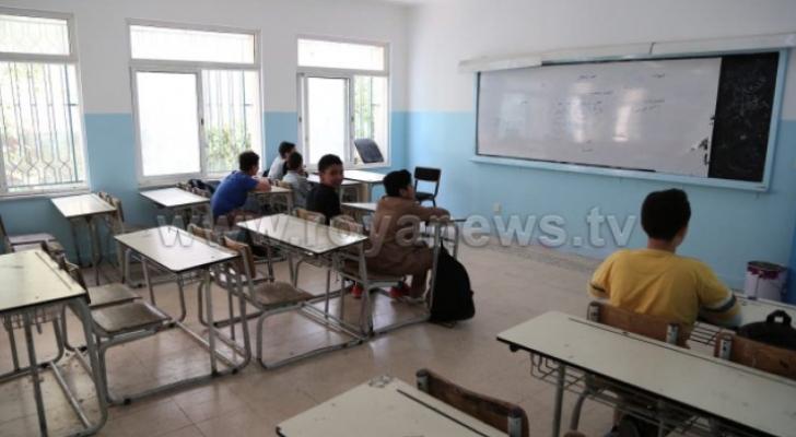 احدى المدارس خلال الاضراب