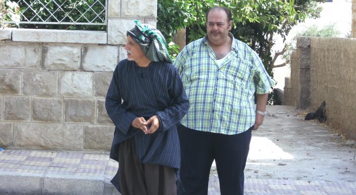 الراحل محمود صايمة والفنان حسين طبيشات