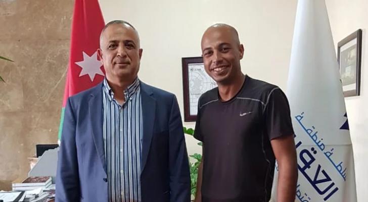 رئيس مجلس المفوضين المهندس نايف احمد بخيت في العقبة اليوم الرحالة المغربي غلام ياسين