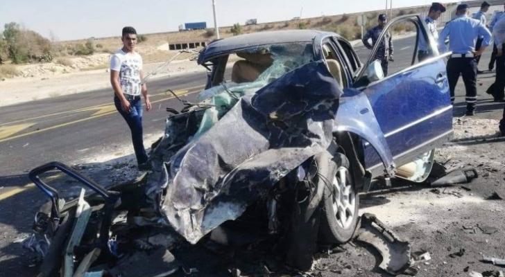 حادث سابق على الطريق الصحراوي