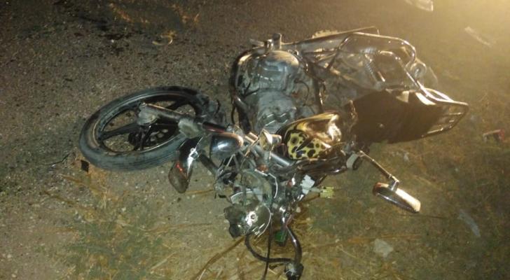 حادث تصادم دراجتين ناريتين في اربد