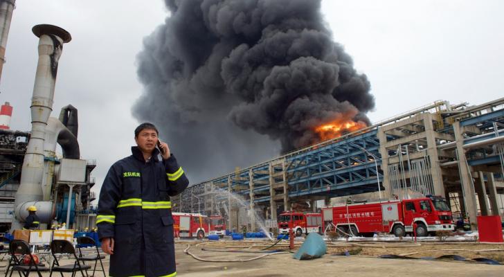 حريق مصنع في الصين