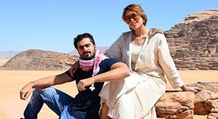 الدكتورة خلود وزوجها أمين في منطقة وادي رم