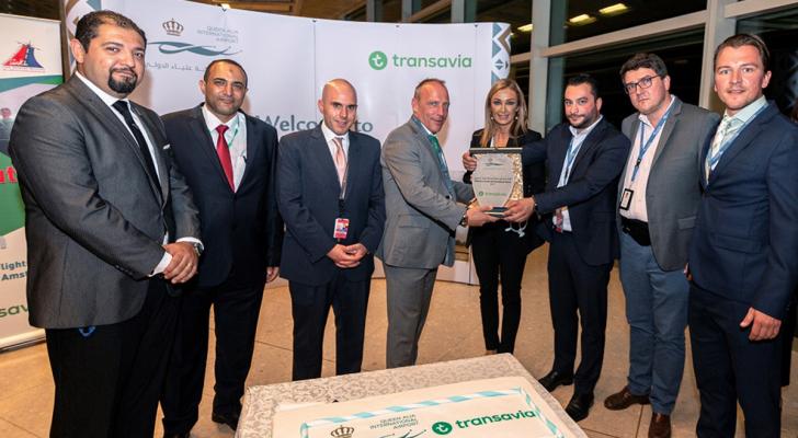 مطار الملكة علياء الدولي يستقبل أولى رحلات طيران ترانسافيا الهولندية