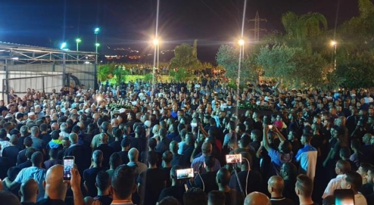 مظاهرة ضد الجرائم في مدن الداخل الفلسطيني