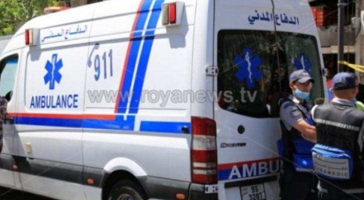 4 اصابات في حادث تدهور بعمان