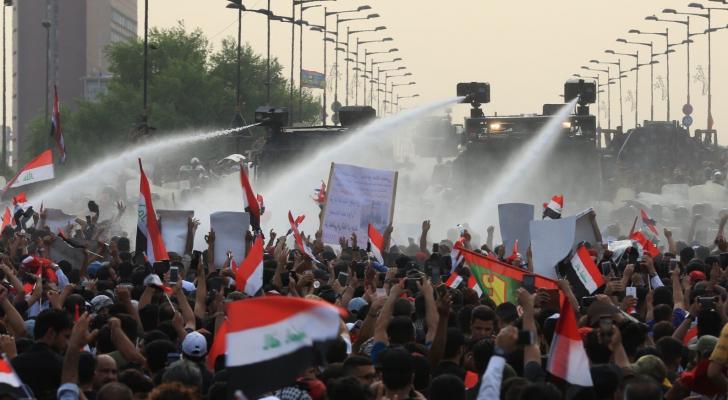 من المظاهرات في العراق