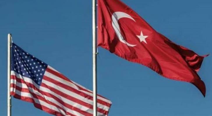 علم تركيا وامريكا