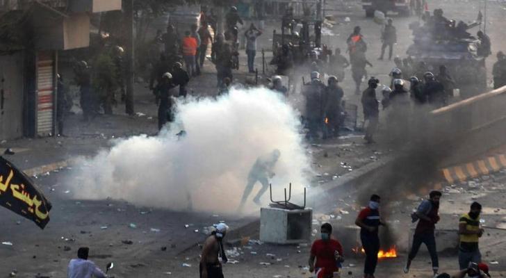 احتجاجات في ساحة الطيران في بغداد