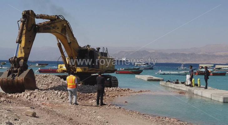 عمليات تطوير بعيدة الأمد في الشاطئ الأوسط بالعقبة