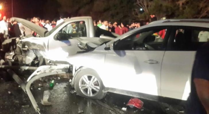 حادث سير مروع على طريق ياجوز في عمان