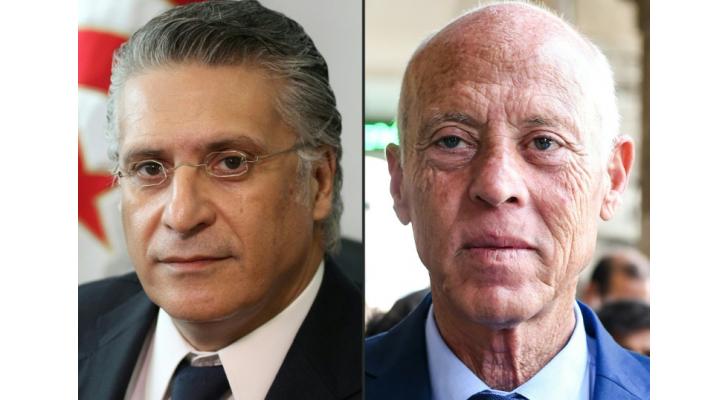 المرشحين للرئاسة التونسية نبيل القروي وقيس سعيّد