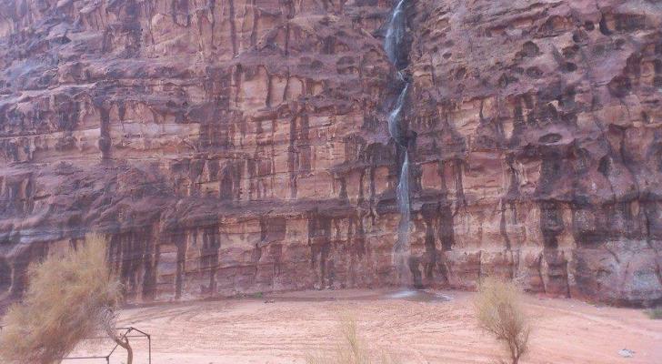 الامطار في وادي رم