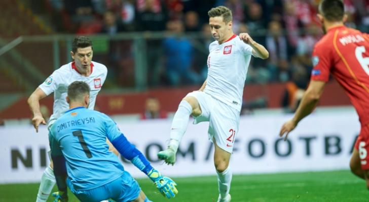 بولندا رابعة المتأهلين الى نهائيات كأس أمم أوروبا 2020 بفوزها على مقدونيا الشمالية.