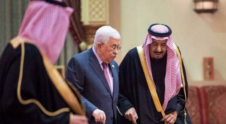 الرئيس الفلسطيني محمود عباس والعاهل السعودي الملك سلمان - ارشيفية