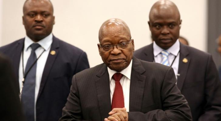 رئيس جنوب افريقيا السابق جاكوب زوما