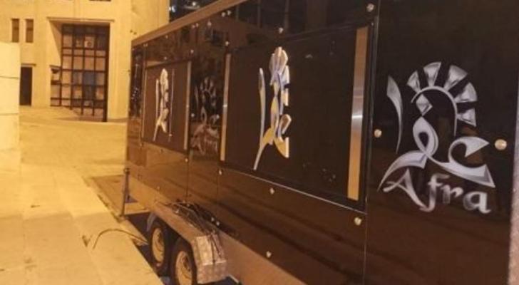 عربة الطعام التي تم الاعتداء عليها