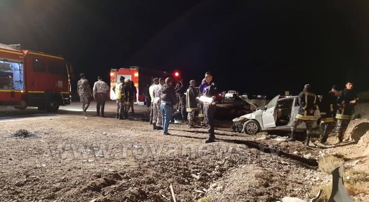 الحادث على الطريق الصحرواي