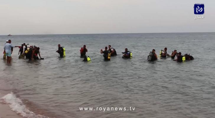 حملة وطنية لتنظيف خليج العقبة بمشاركة 400 غطاس