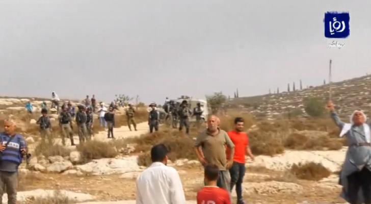 مواجهات عنيفة بين الشبان الفلسطينيين وقوات الاحتلال في بلدة ترمسعيا