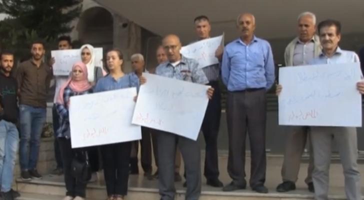 وقفة تضامنية في اربد مع الأسرى الأردنيين في سجون الإحتلال