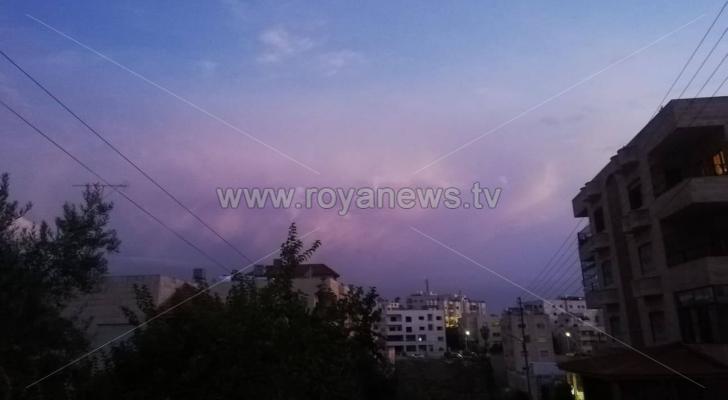 الصورة من العاصمة عمان فجر الأربعاء