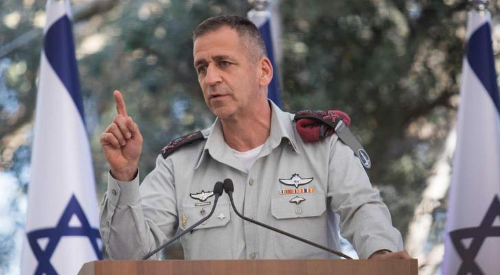 رئيس هيئة الأركان في جيش الاحتلال الجنرال افيف كوخافي