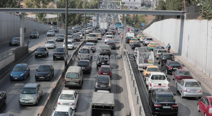 ازمة مرورية في العاصمة عمان - الصورة ارشيفية