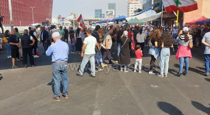 جانب من التظاهرات
