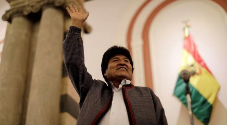 الرئيس البوليفي المنتهية ولايته إيفو موراليس