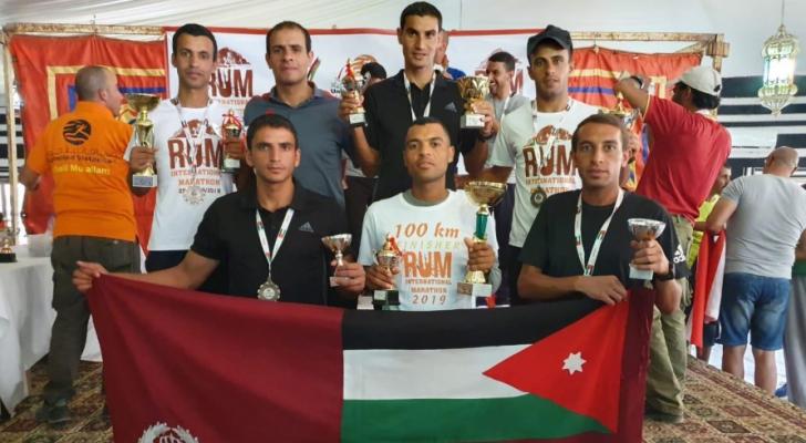 لاعبو الدرك يحصدون المراكز الأولى في ماراثون رم الدولي السابع