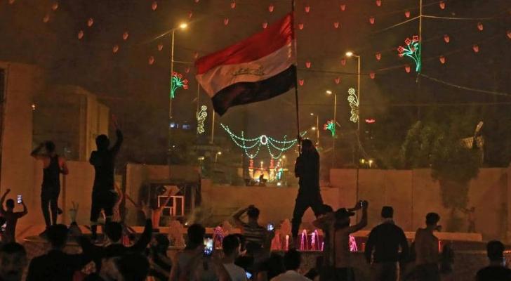 من الاحتجاجات في العراق