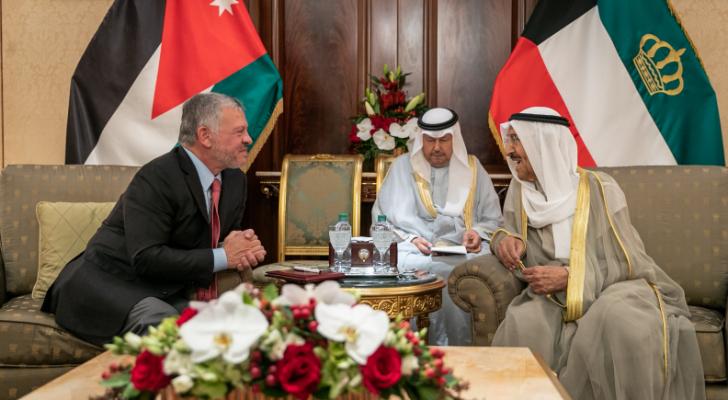 الملك وأمير الكويت يعقدان مباحثات ركزت على عمق العلاقات الأخوية بين البلدين