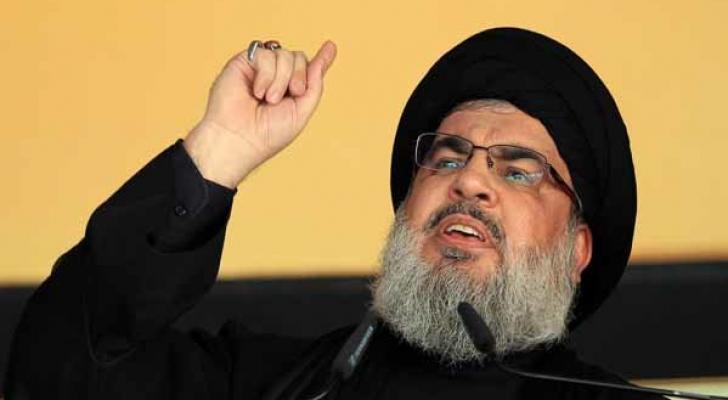"""الأمين العام لـ """"حزب الله""""، حسن نصر الله"""